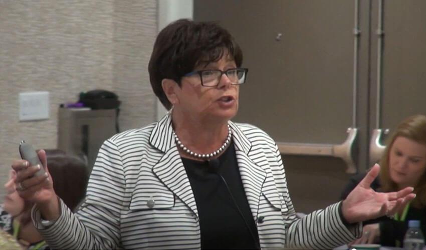Sharon V. Kramer presenting